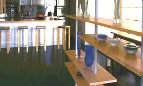 Concrete and Acrylic Hard Flooring in Kitchen