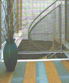 Glass and Wood Flooring on Mezzanine