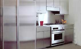 Contemporary Kitchen Cabinets with Flat Full-overlay Doors