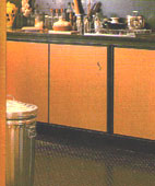 Textured Metal Flooring for the Kitchen