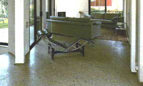 Contemporary Living Room with Terrazzo Hard Flooring