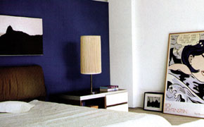 Contemporary wall decor with paint modern ideas for wall painting - Home interior wall color contrast ...
