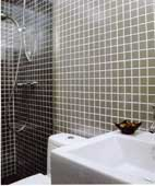 Bathroom Wall Decor in Gray Tiles