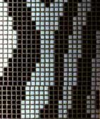 Wall Decor in Mosaic with Zebra Stripes