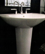 Kitchen basins converted into bathroom basins