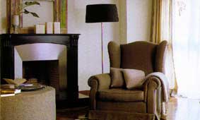 Frontal placement ensures warmth for all seated in front of the fireplace