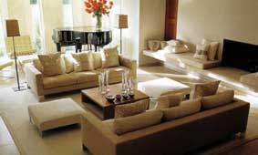 Example of a well considered living room layout