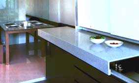 Maximize kitchen space with sliding countertop