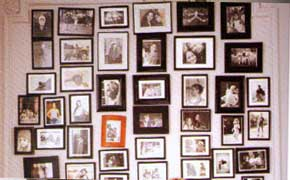 beautiful and warm melange of family photos make great wall decor