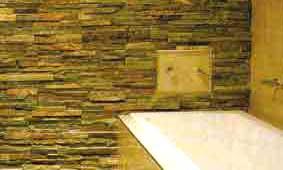 Mixed Texture in Bathroom Wall